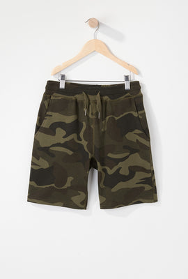 West49 Boys Camo Fleece Short