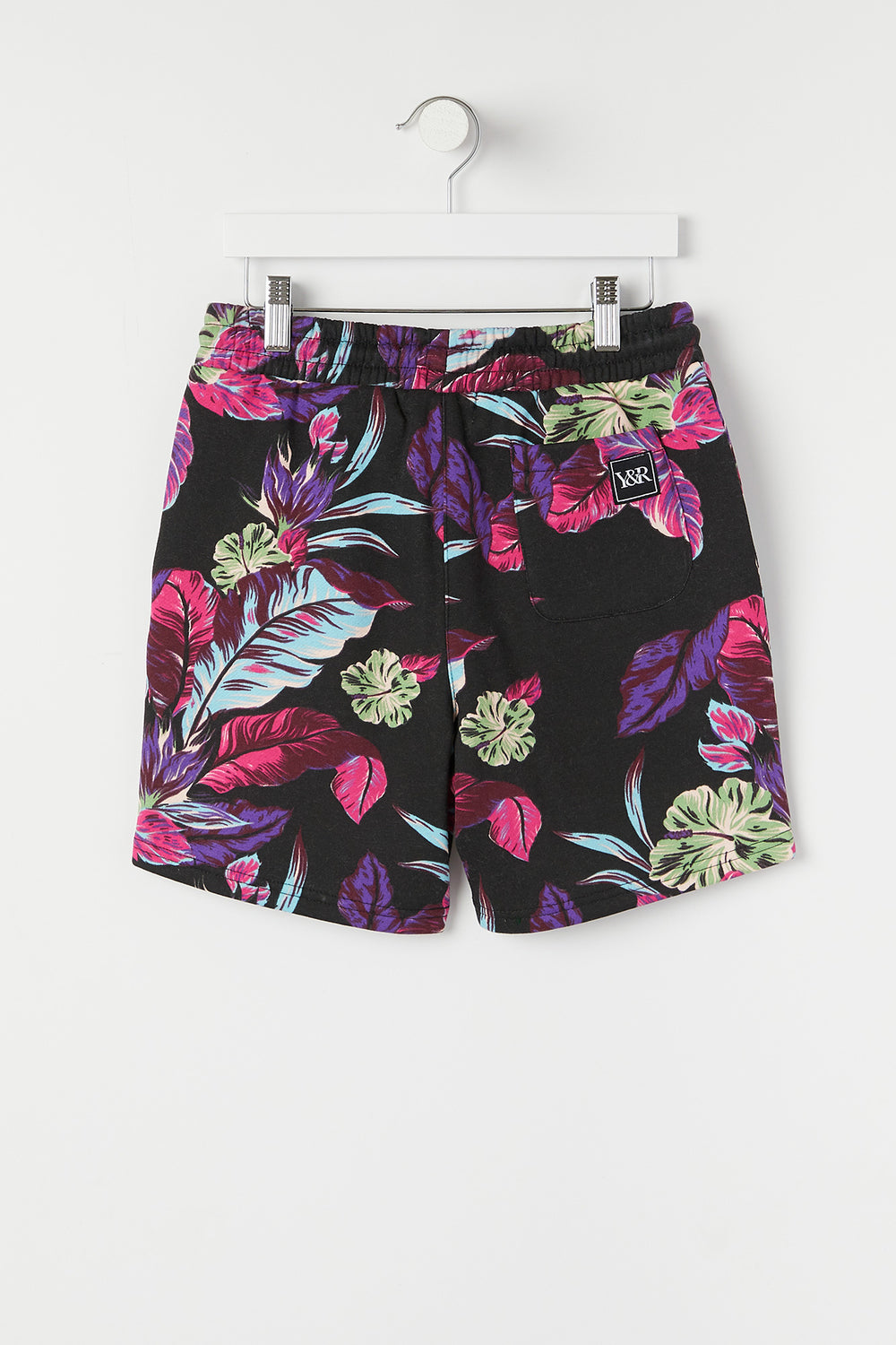 Short Floral Fluo Young & Reckless Junior Noir