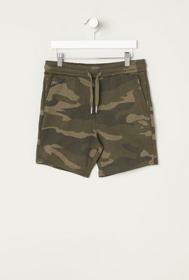 West49 Youth Camo Fleece Short