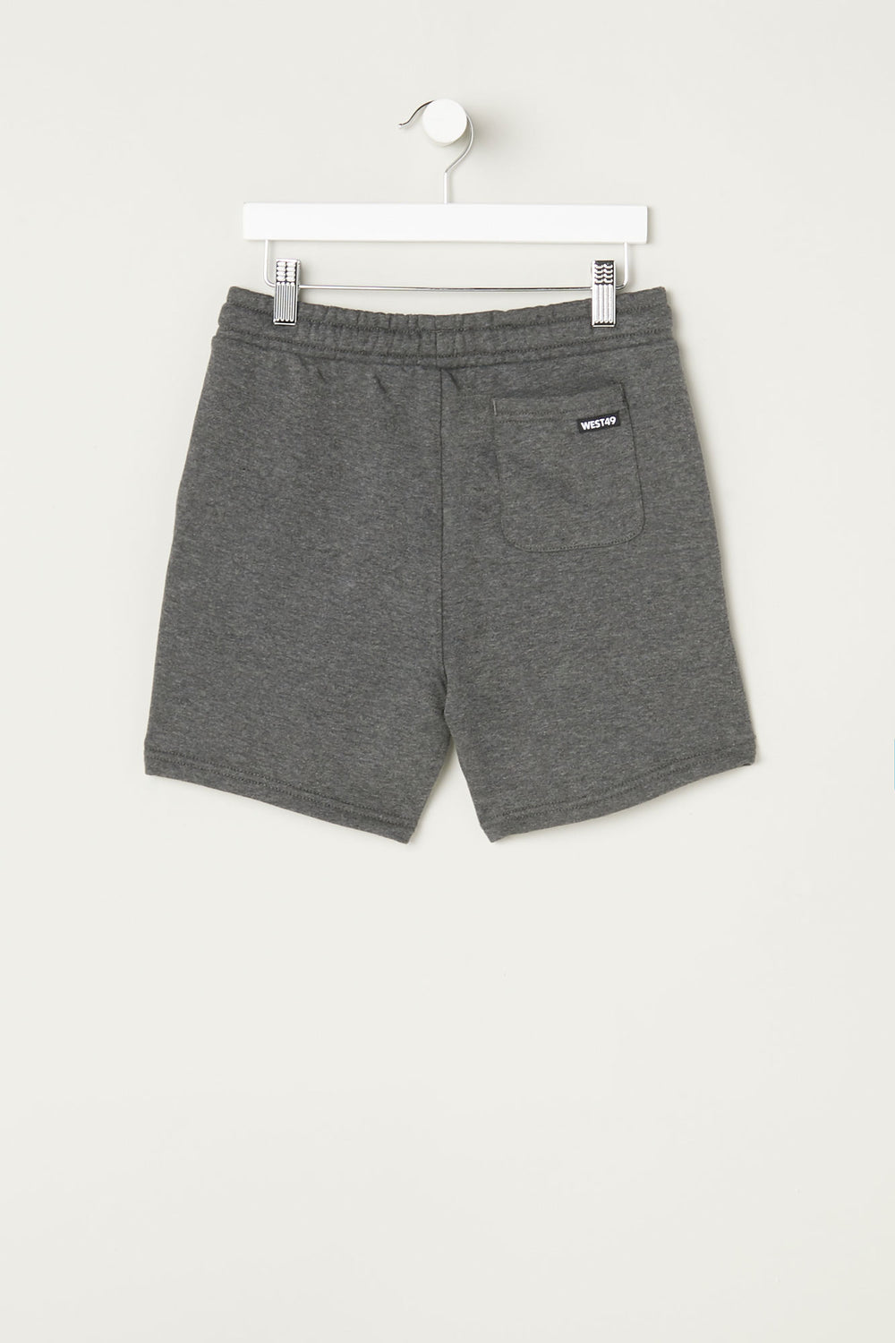 West49 Youth Basic Fleece Short Charcoal