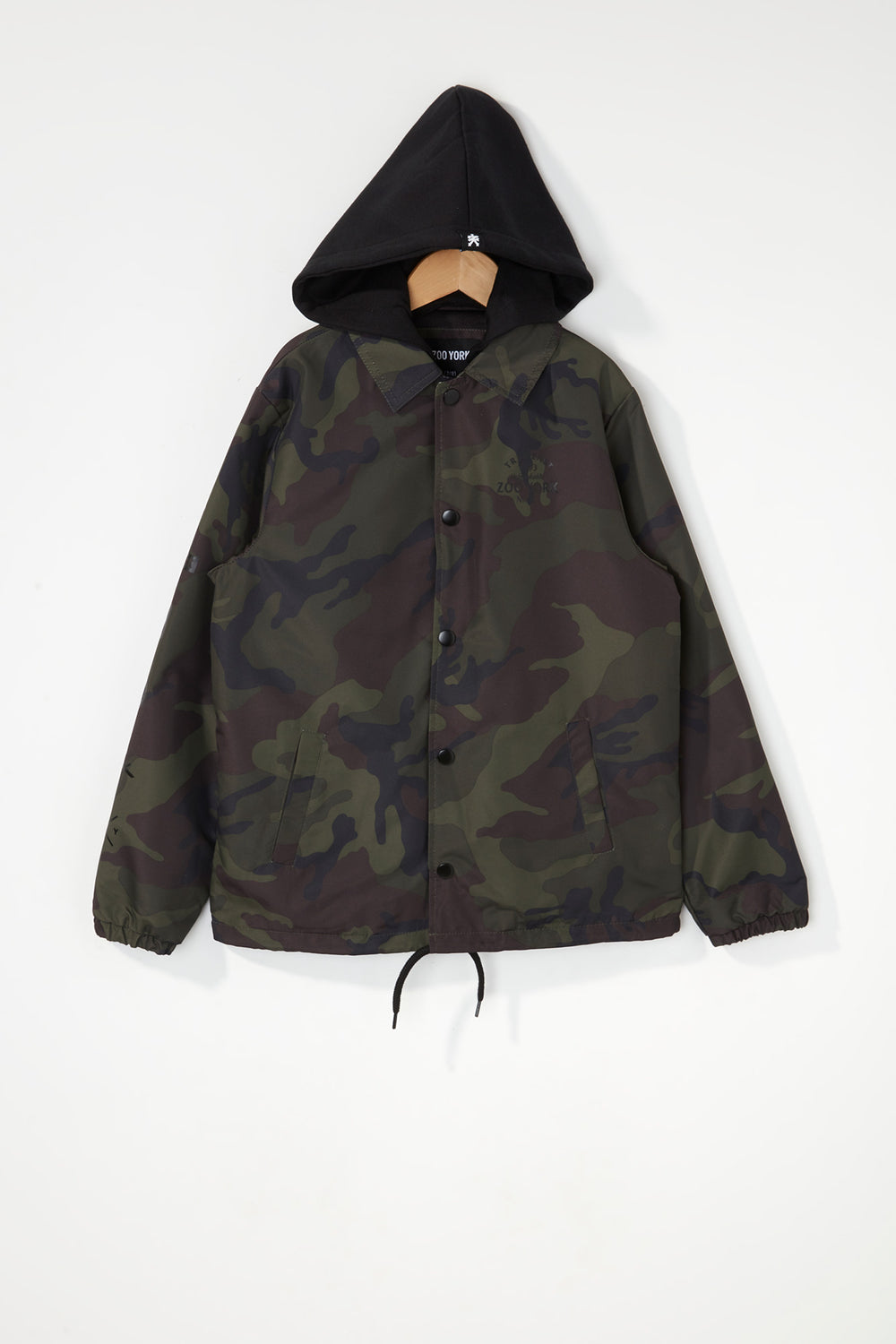 Zoo York Boys Snap-Button Hooded Jacket Camouflage