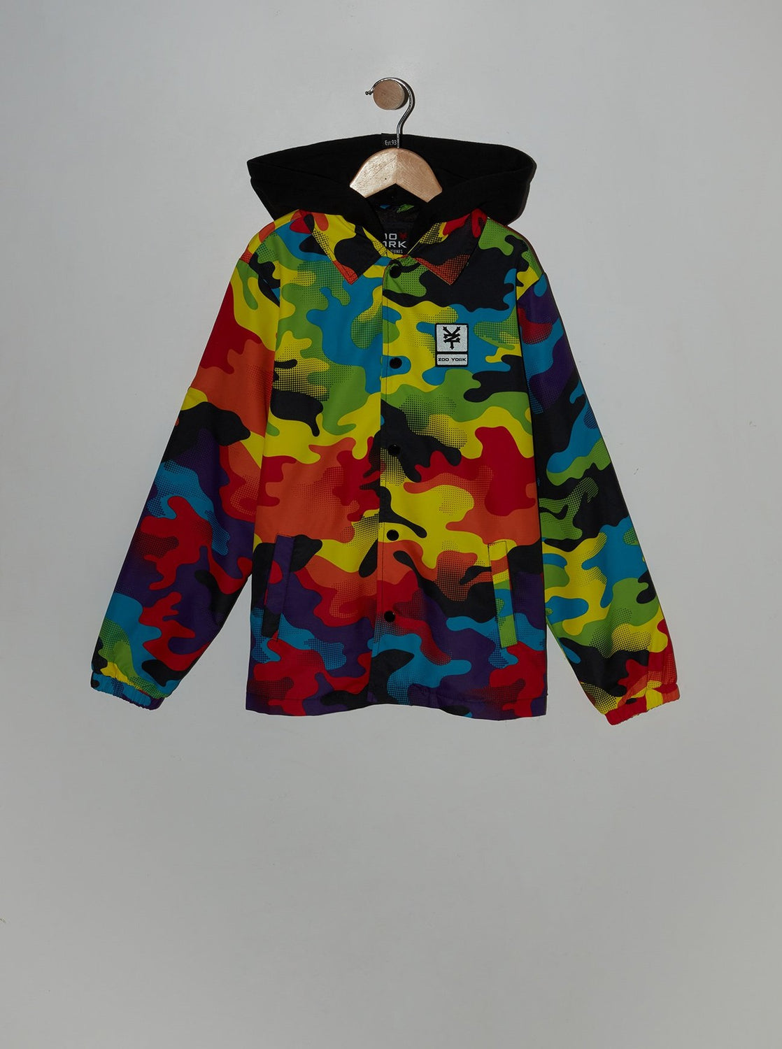 Zoo York Youth Rainbow Camo Coach Jacket Multi