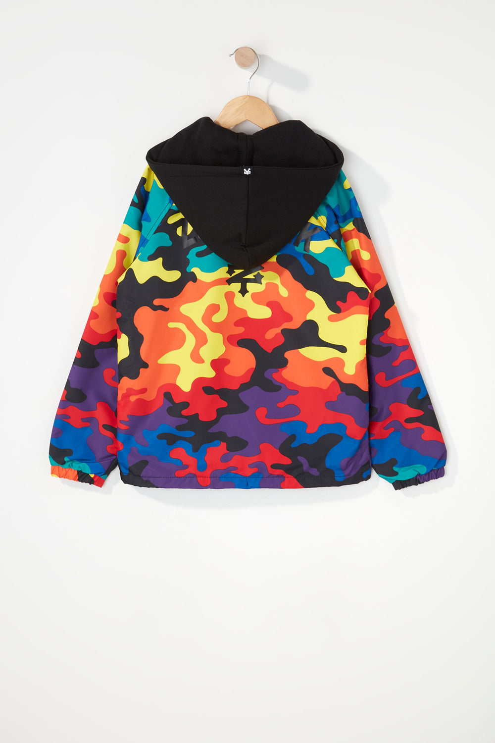 Zoo York Boys Rainbow Camo Hooded Jacket Multi