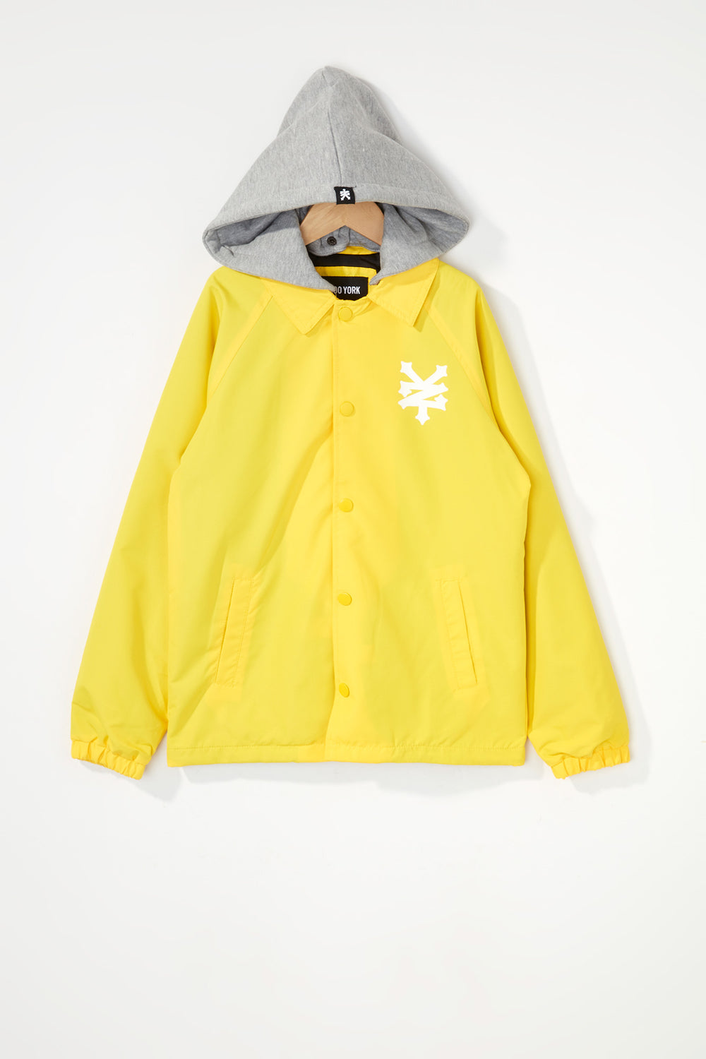 Zoo York Boys Hooded Coach Jacket Yellow