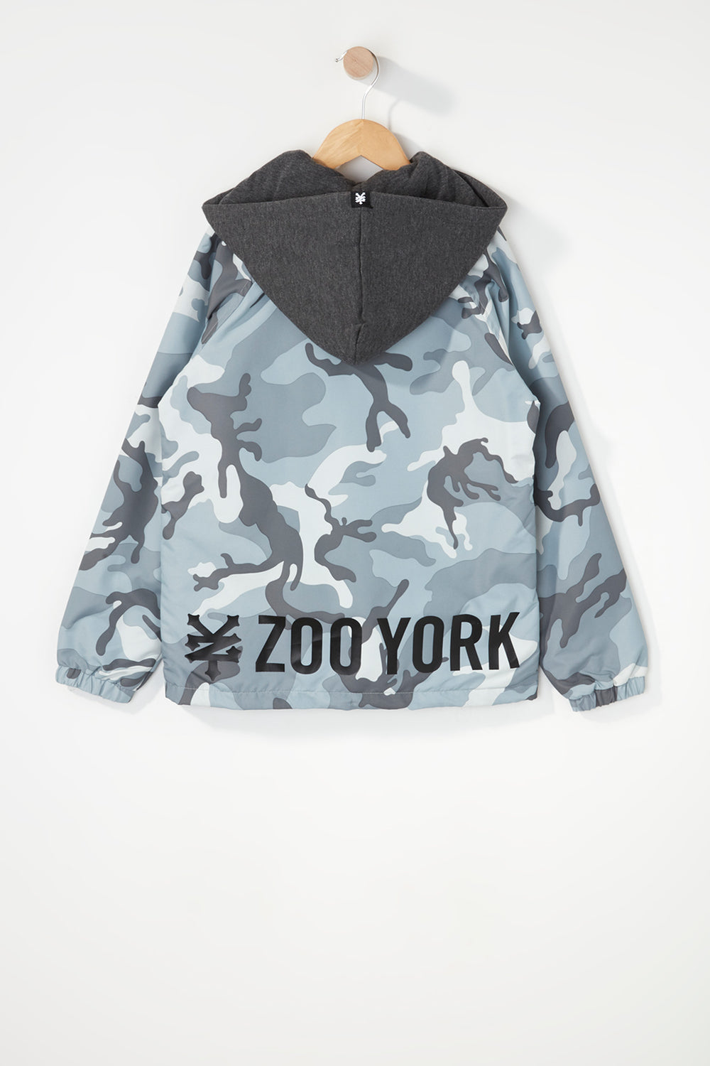 Zoo York Boys Hooded Coach Jacket Gingham
