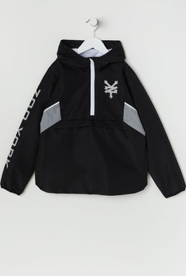 Zoo York Youth Half-Zip Reflective Windbreaker