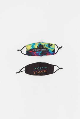 2x Zoo York Youth Washable & Reusable Face Mask