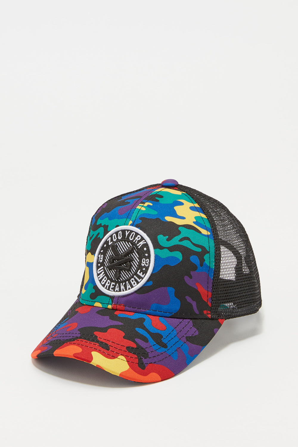Zoo York Boys Rainbow Camo Trucker Hat Multi