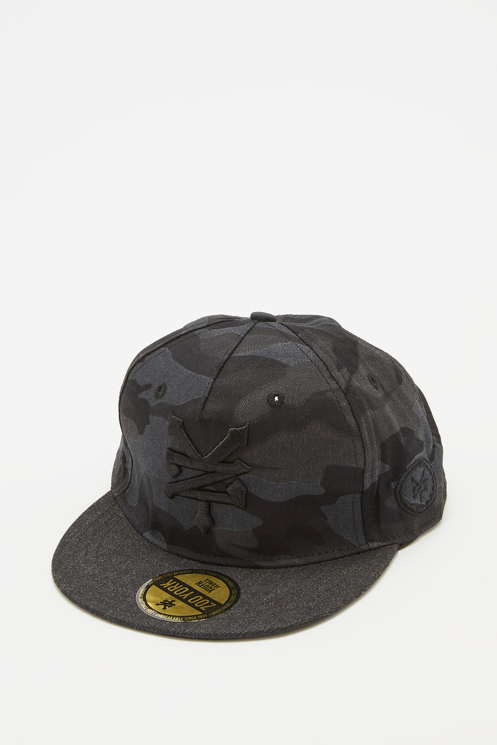 Zoo York Boys Camo Snapback Hat Black
