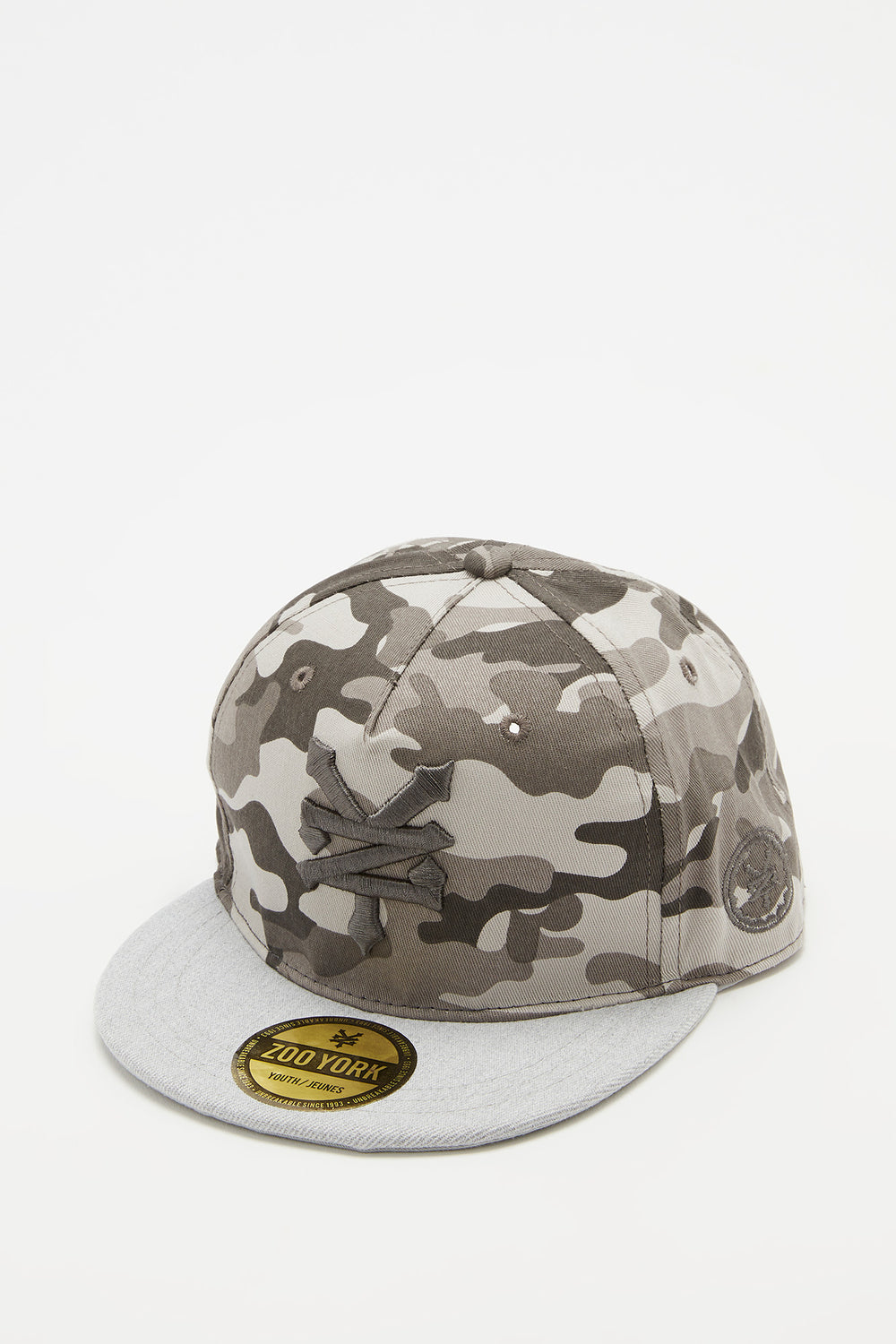 Zoo York Boys Camo Snapback Hat Heather Grey