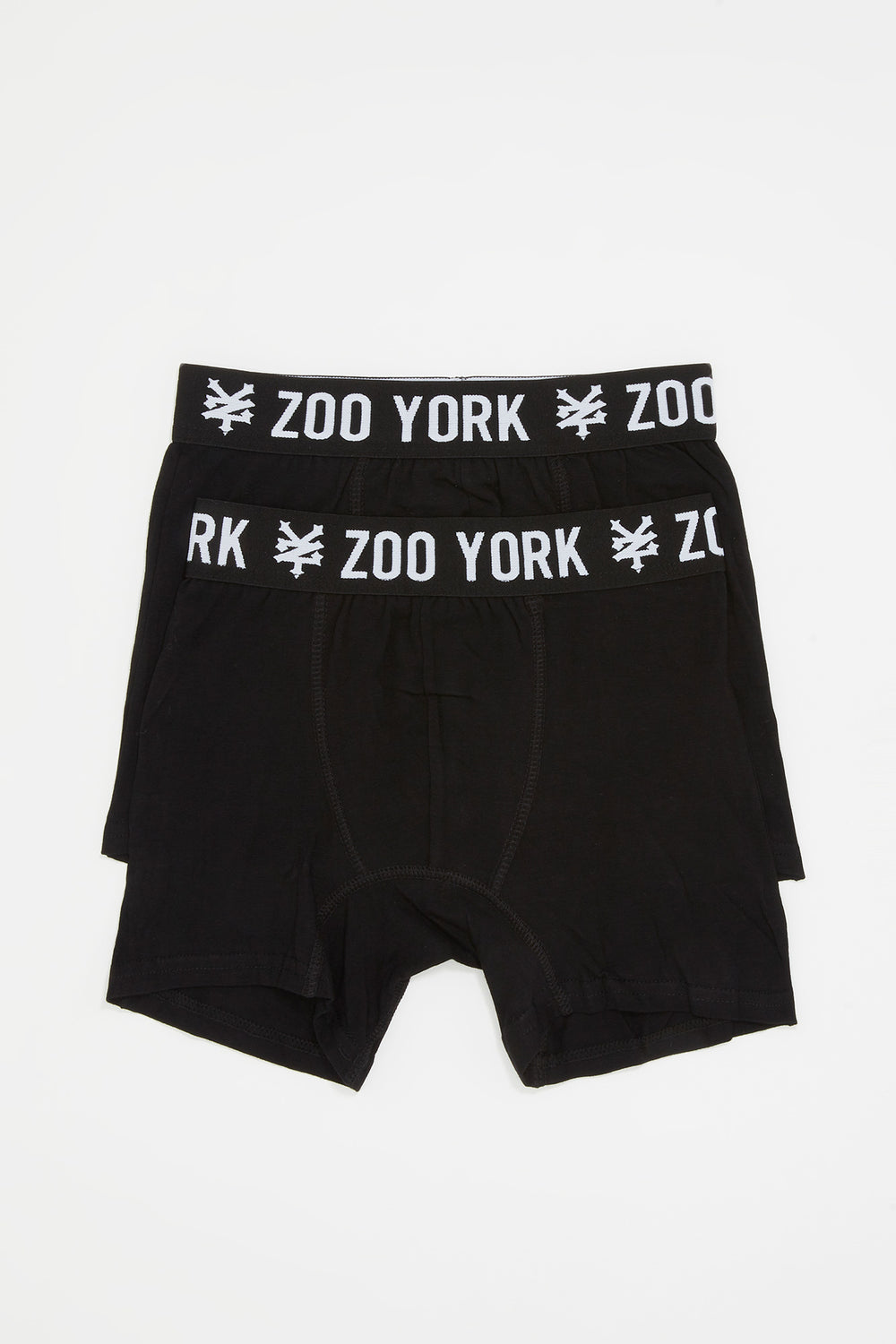 Zoo York Boys 2-Pack Cotton Boxer Briefs Black