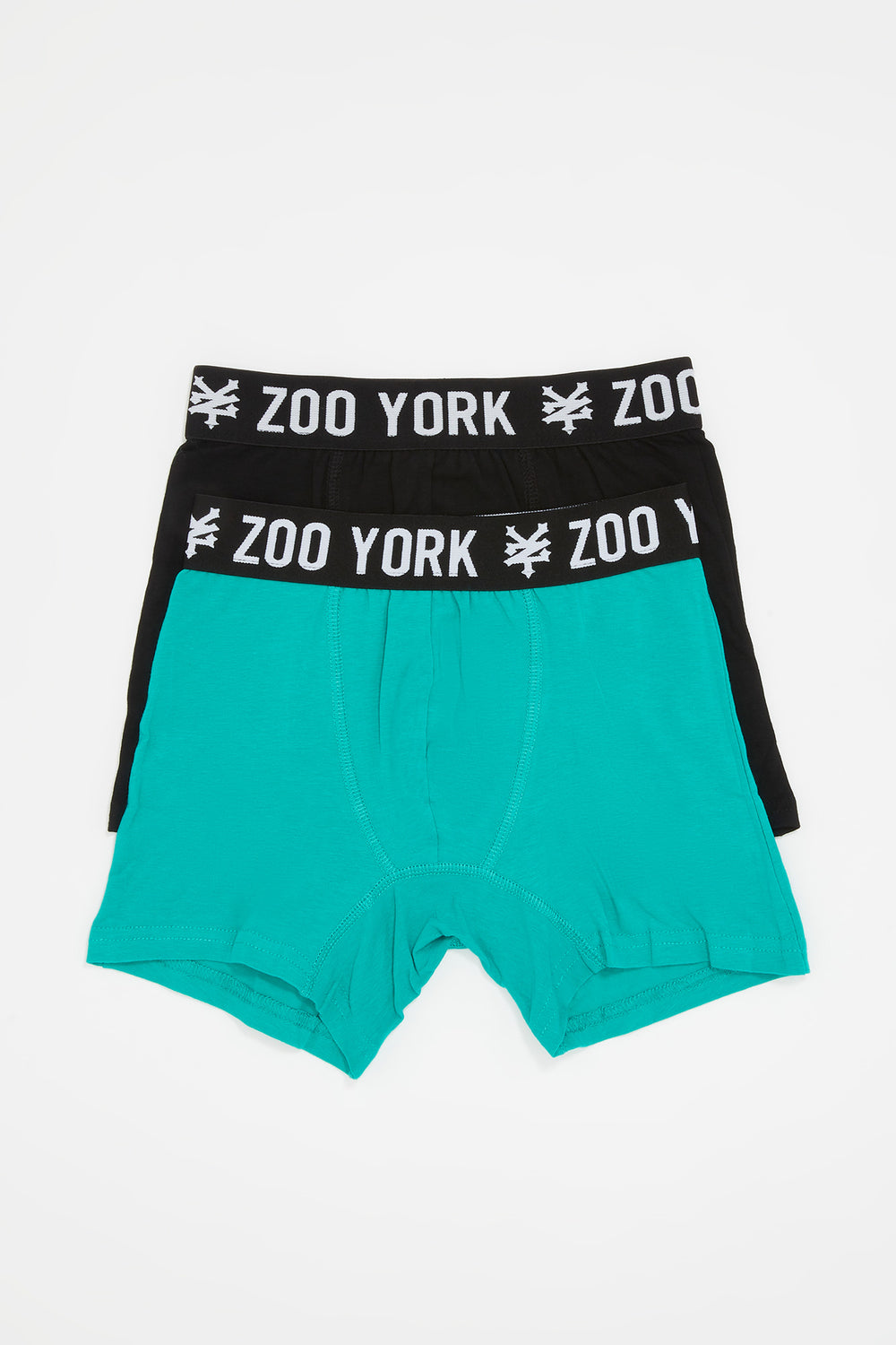 Zoo York Boys 2-Pack Cotton Boxer Briefs Green