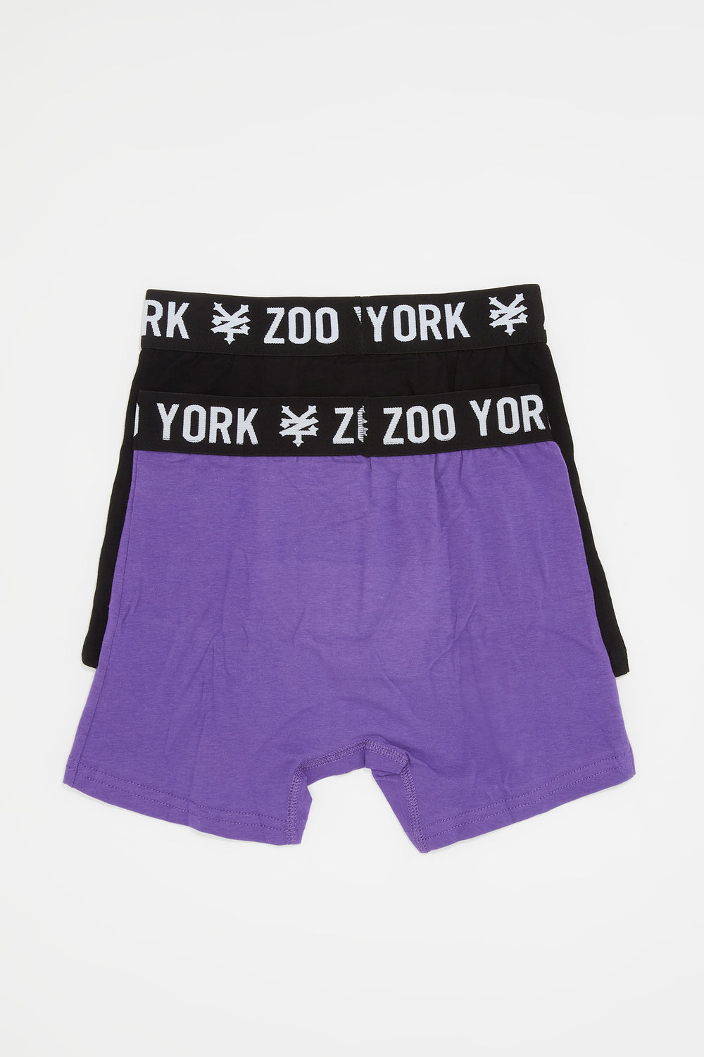 Zoo York Boys 2-Pack Cotton Boxer Briefs Purple