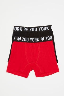 Zoo York Boys 2-Pack Cotton Boxer Briefs