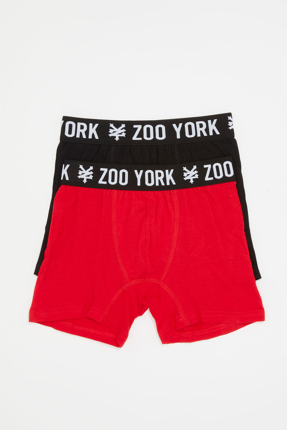 Zoo York Boys 2-Pack Cotton Boxer Briefs Red
