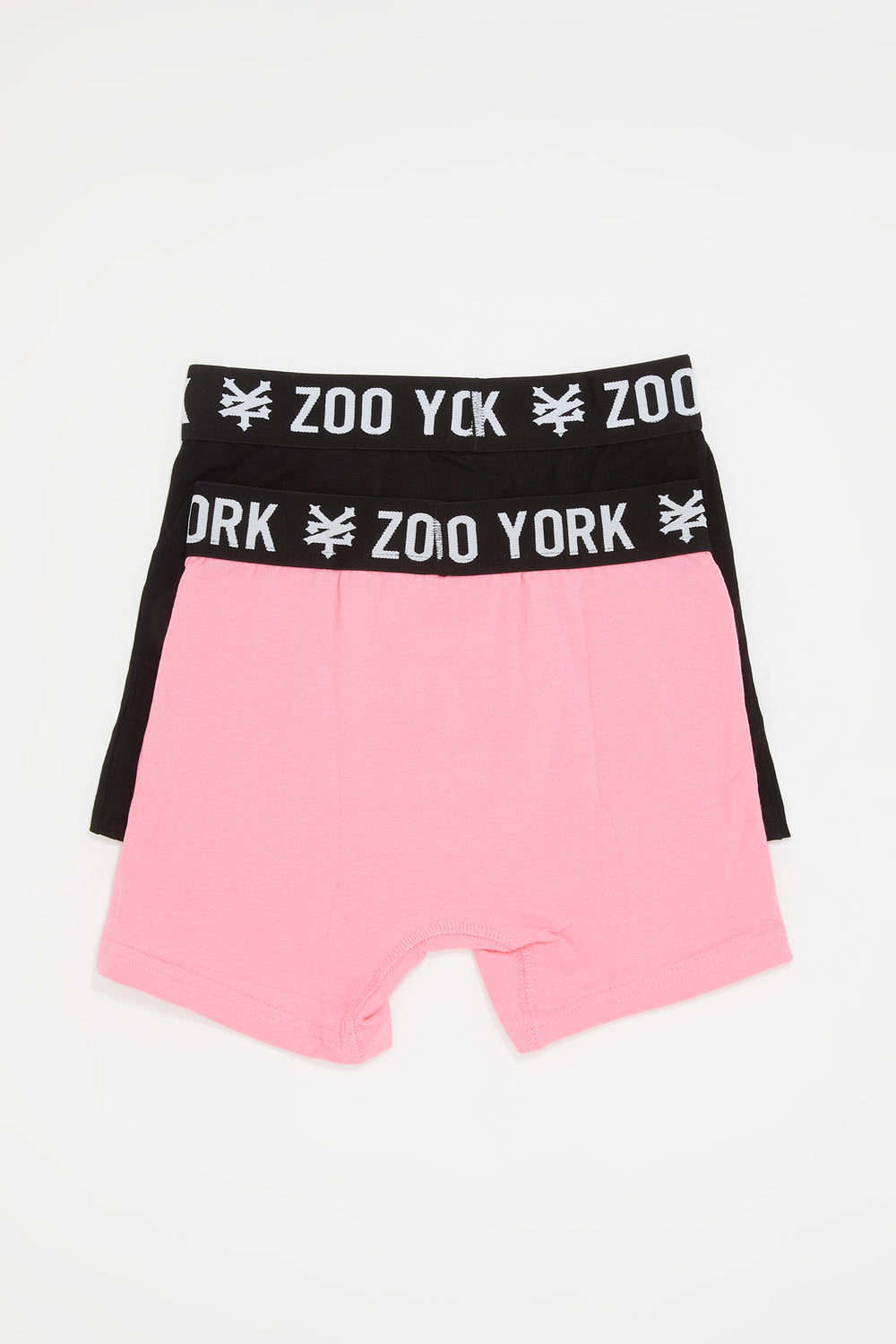 Zoo York Boys 2-Pack Cotton Boxer Briefs Pink