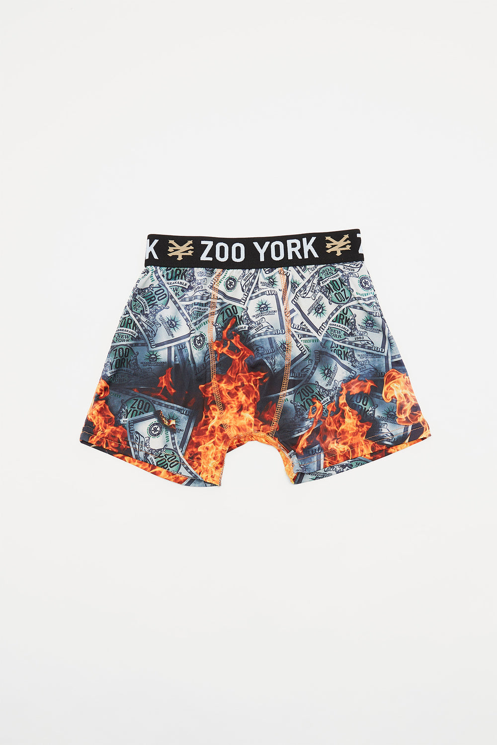 Zoo York Boys Money Flame Boxer Brief Green