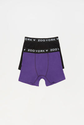 Zoo York Youth 2-Pack Cotton Boxer Briefs