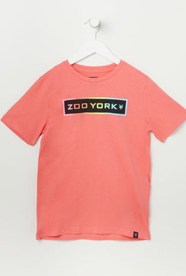 T-Shirt Logo Zoo York Fluo Junior