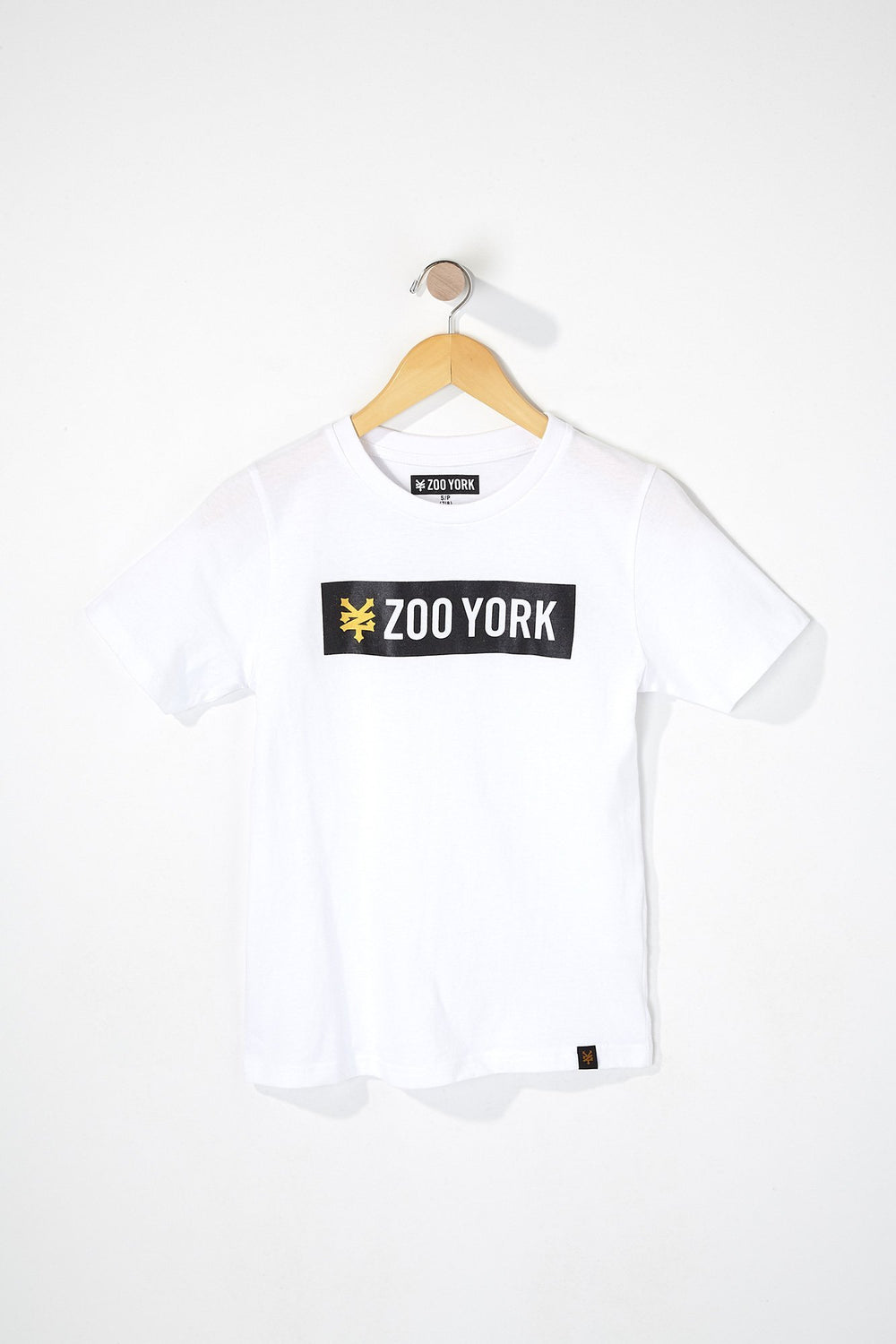 Zoo York Boys Bar Logo T-Shirt White