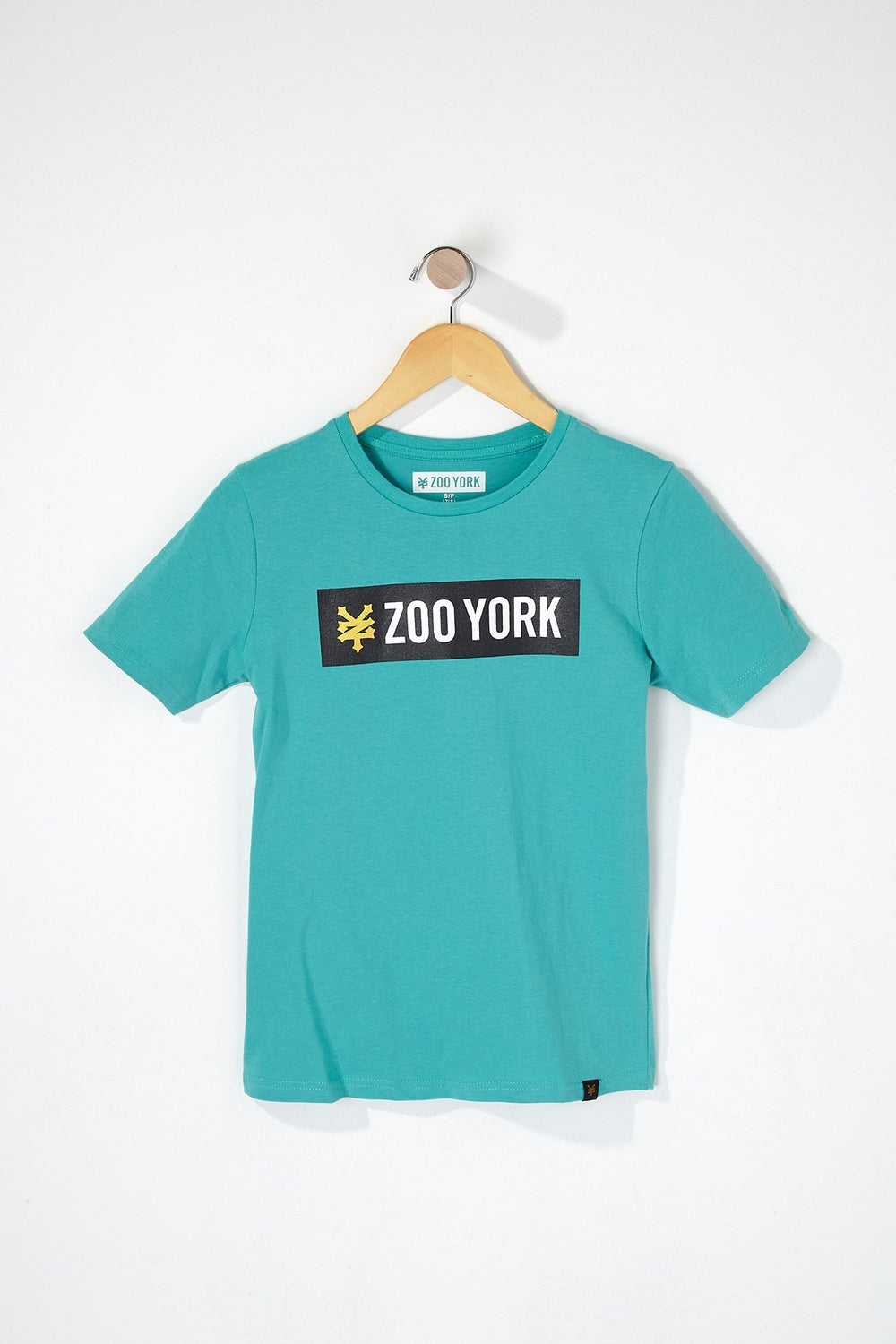 Zoo York Boys Bar Logo T-Shirt Sage