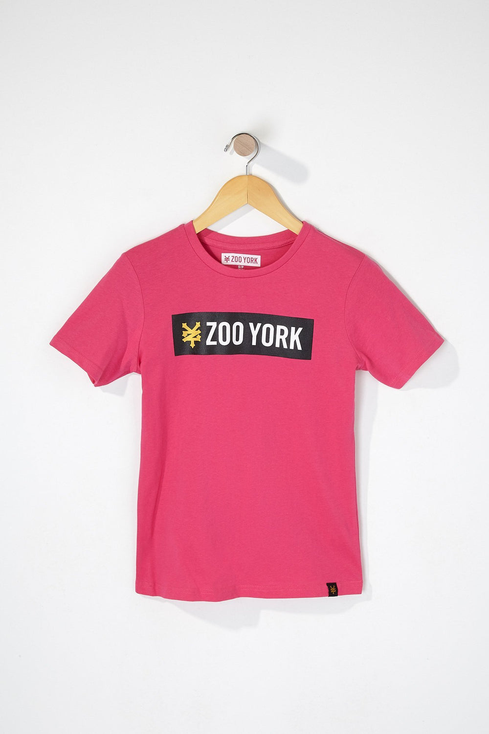 Zoo York Boys Bar Logo T-Shirt Pink