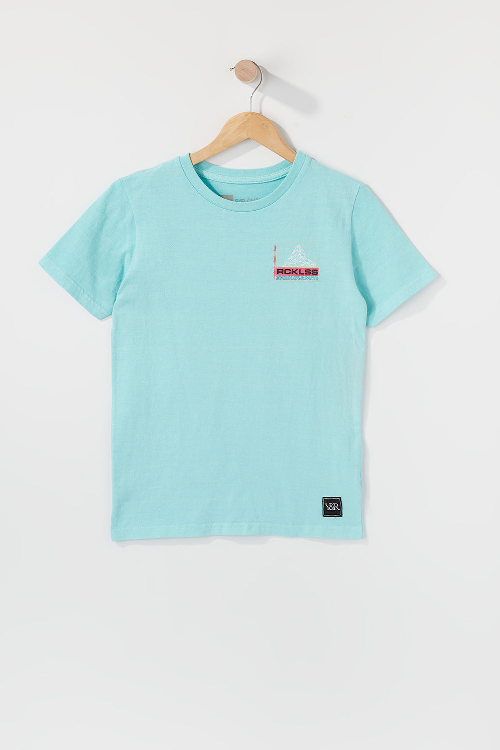 Young & Reckless Boys Geometric Logo T-Shirt Aqua