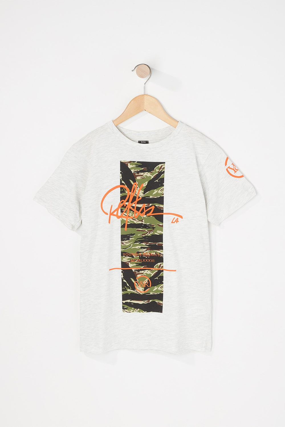 T-Shirt Logo Camouflage Young & Reckless Avoine