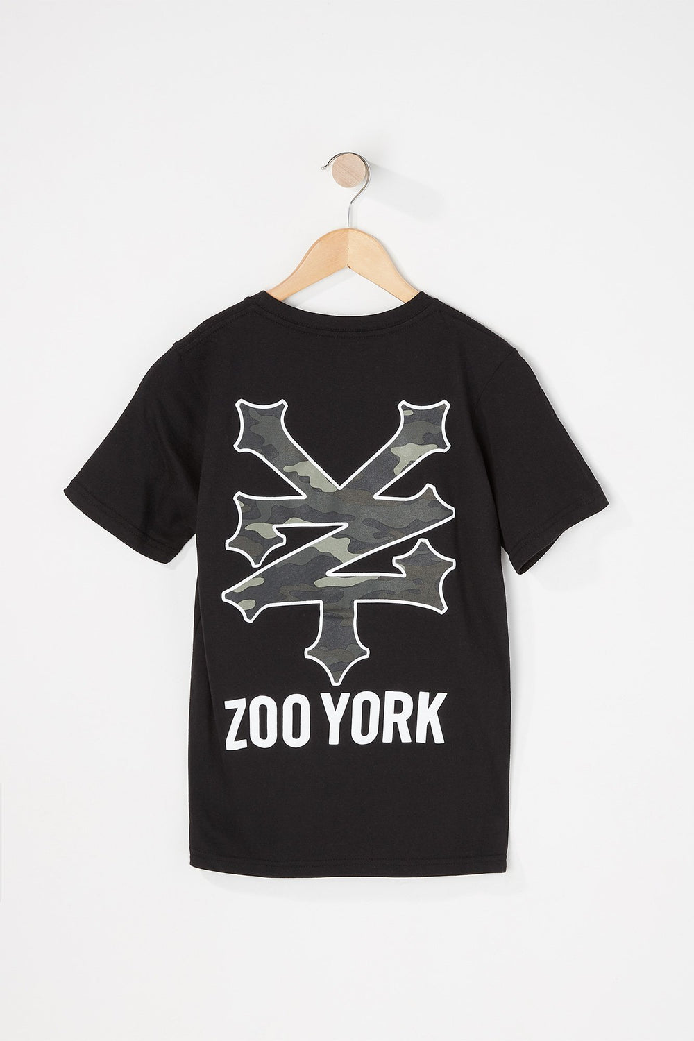 Zoo York Boys Camo Filled Logo T-Shirt Black