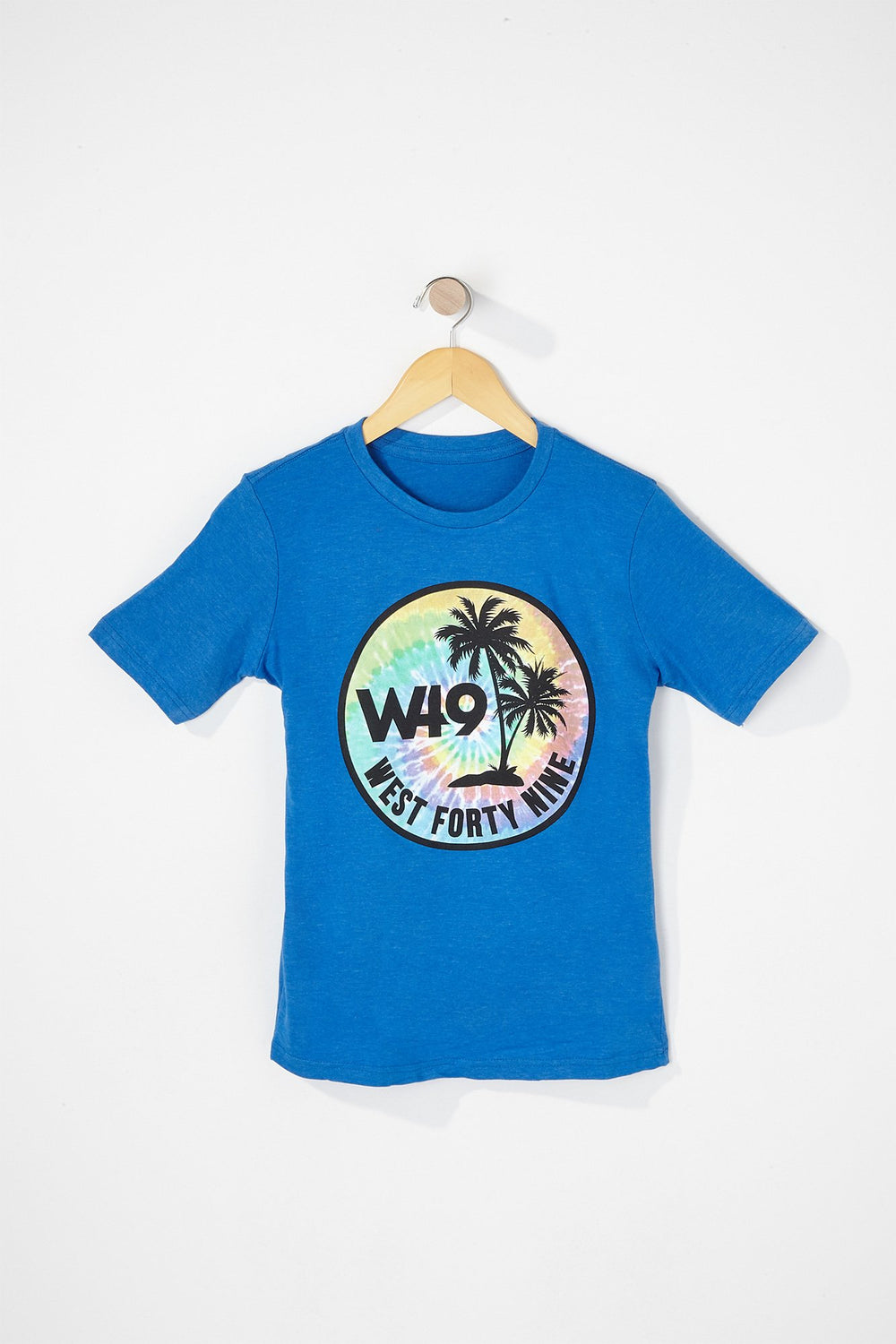 West49 Boys Tie Dye Circle Logo T-Shirt Turquoise