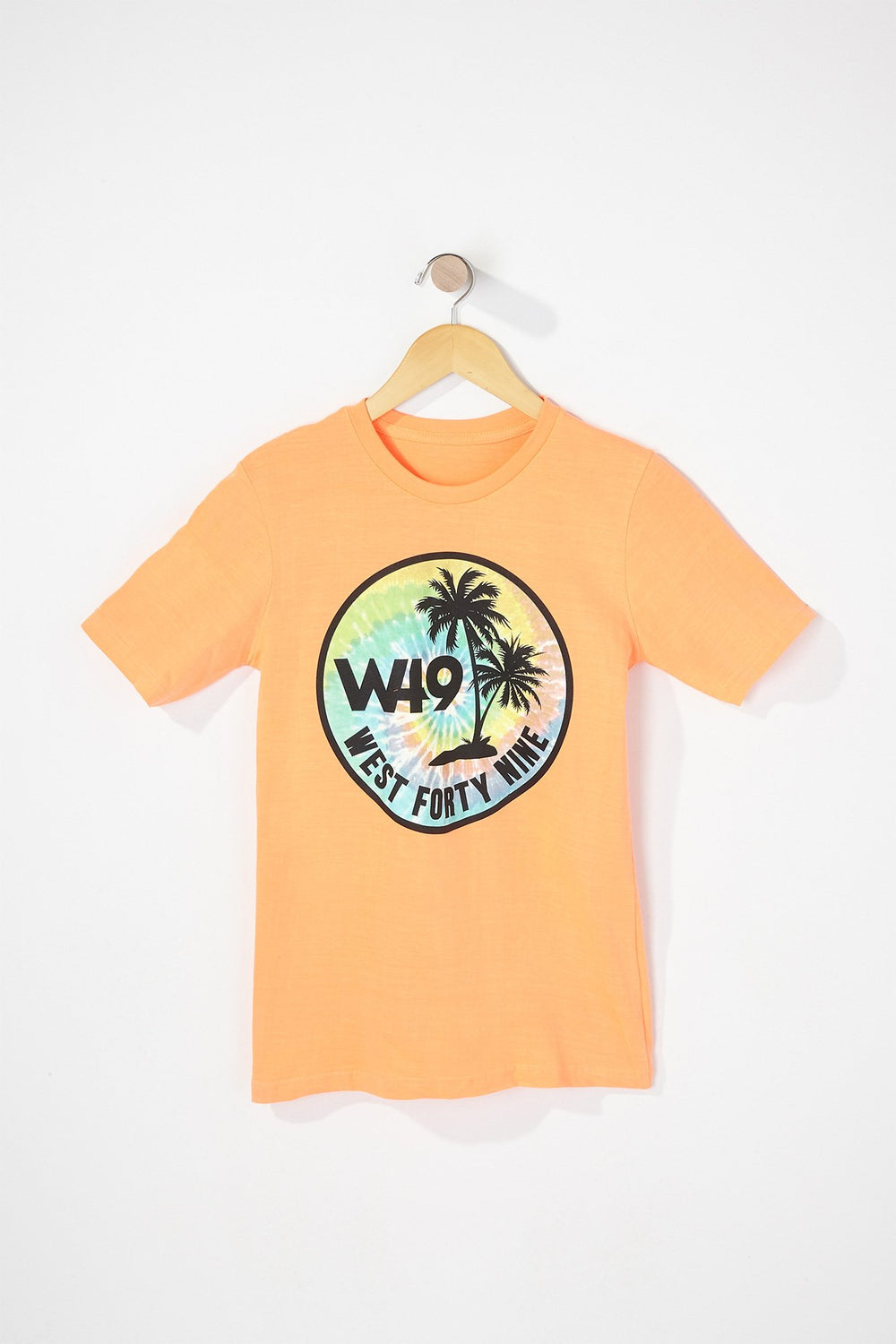 West49 Boys Tie Dye Circle Logo T-Shirt Orange