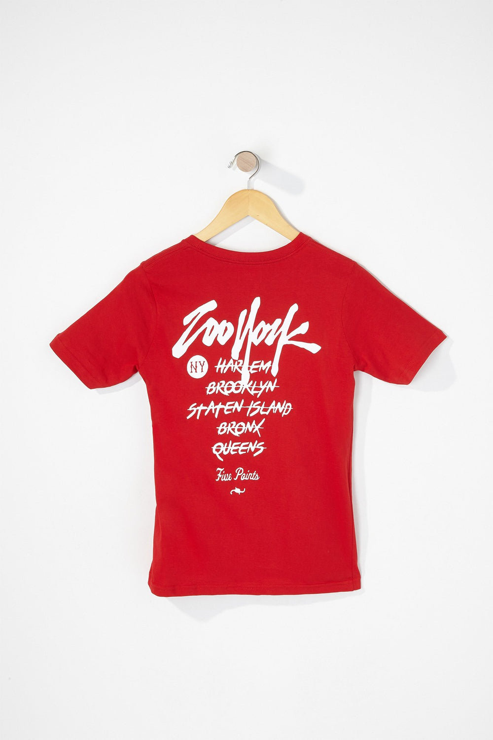 Zoo York Boys Graffiti Logo T-Shirt Red