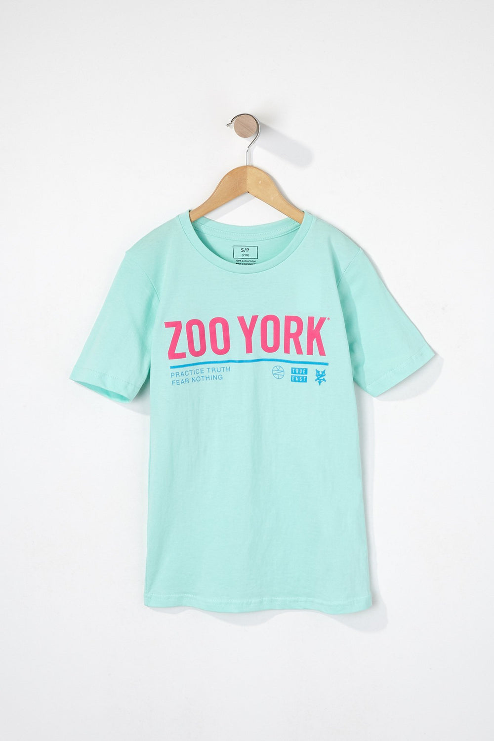 Zoo York Boys Neon Logo T-Shirt Blue