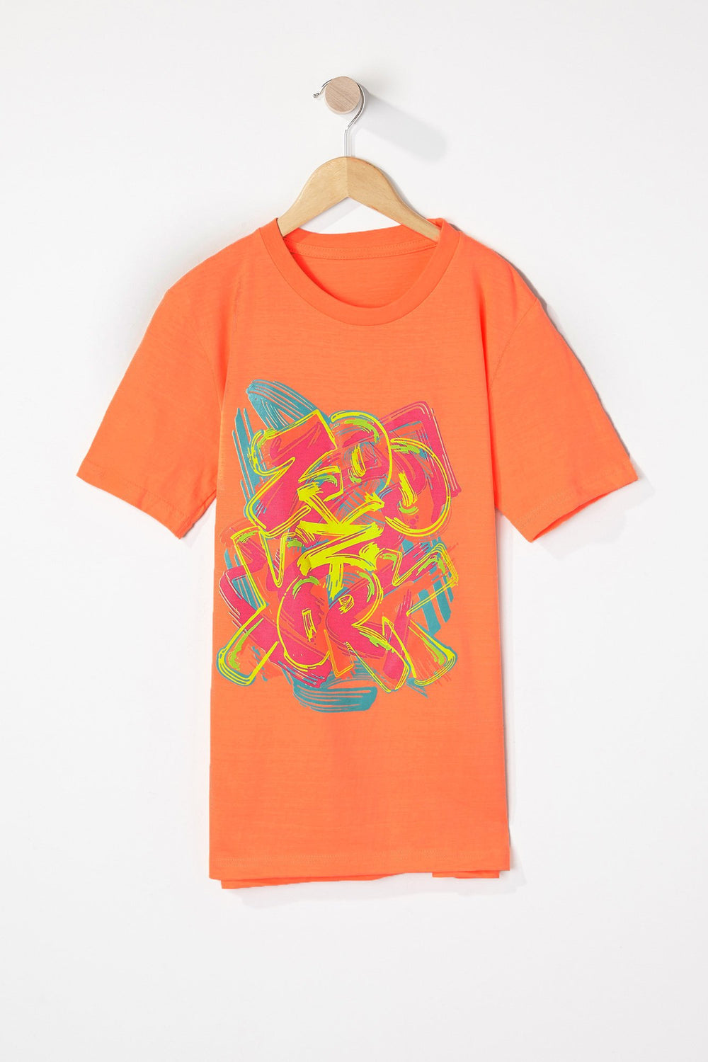 T-Shirt Graffiti Zoo York Garçon Orange