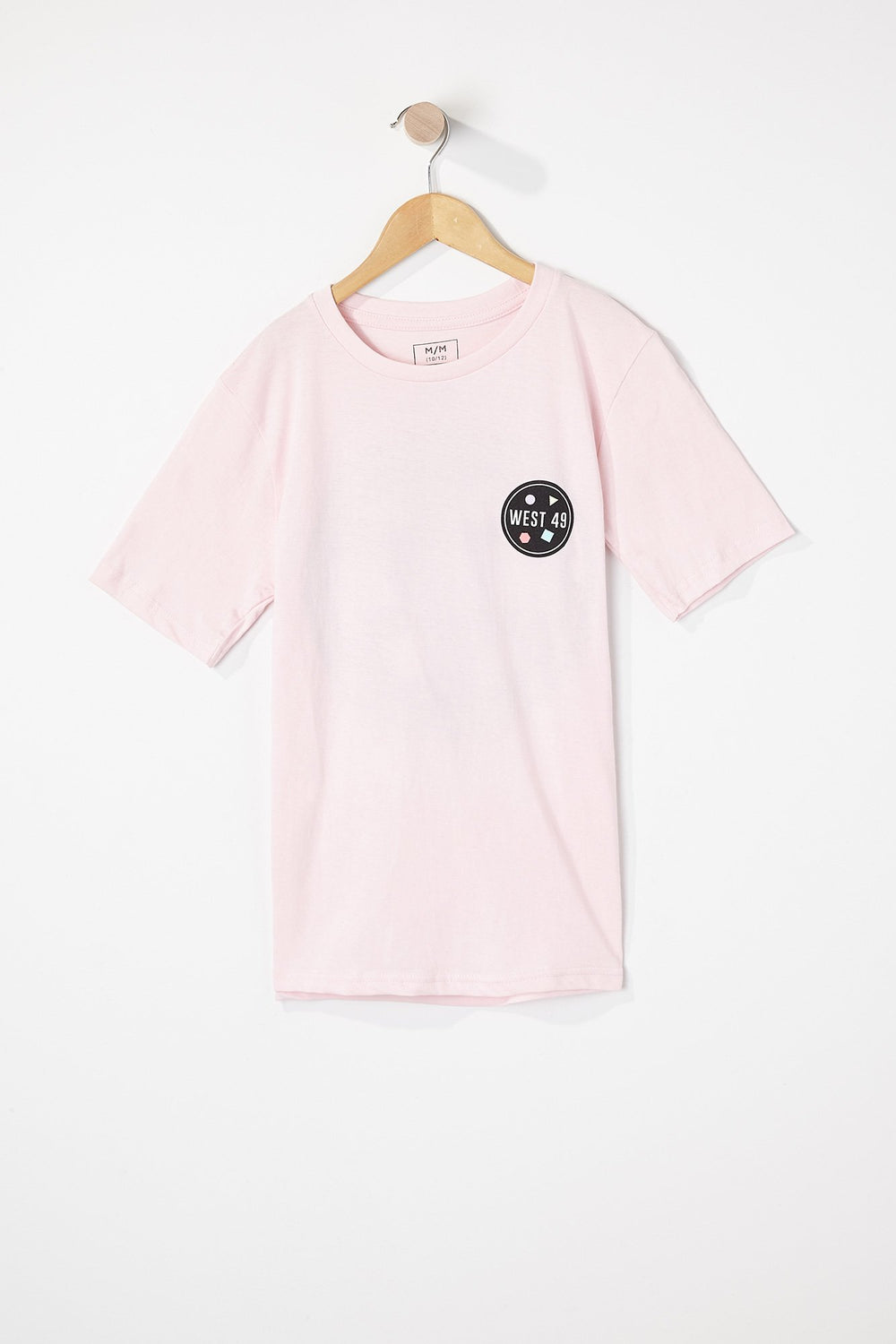 T-Shirt Rose Zoo York Garçon Rose pale