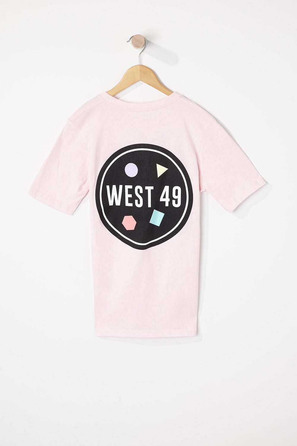 West49 Boys Circle Logo T-Shirt Light Pink