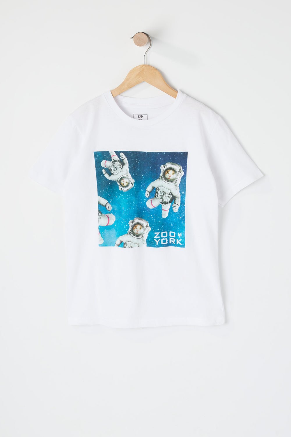 Boys Cats In Space T-Shirt White
