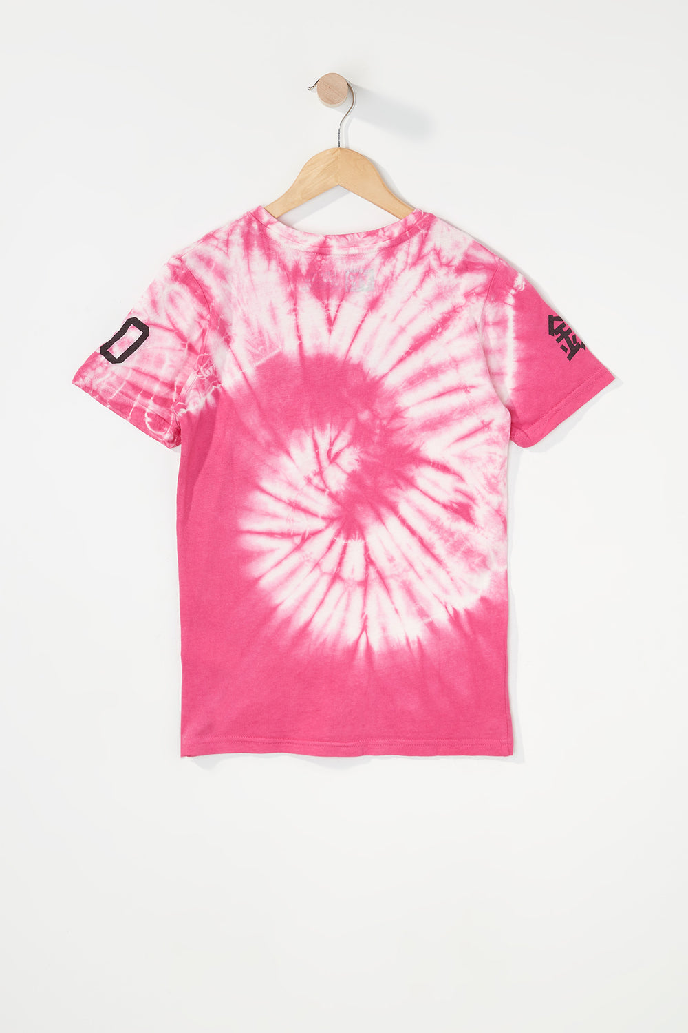 T-Shirt Tie-Dye Logo Young & Reckless Garçon Rose