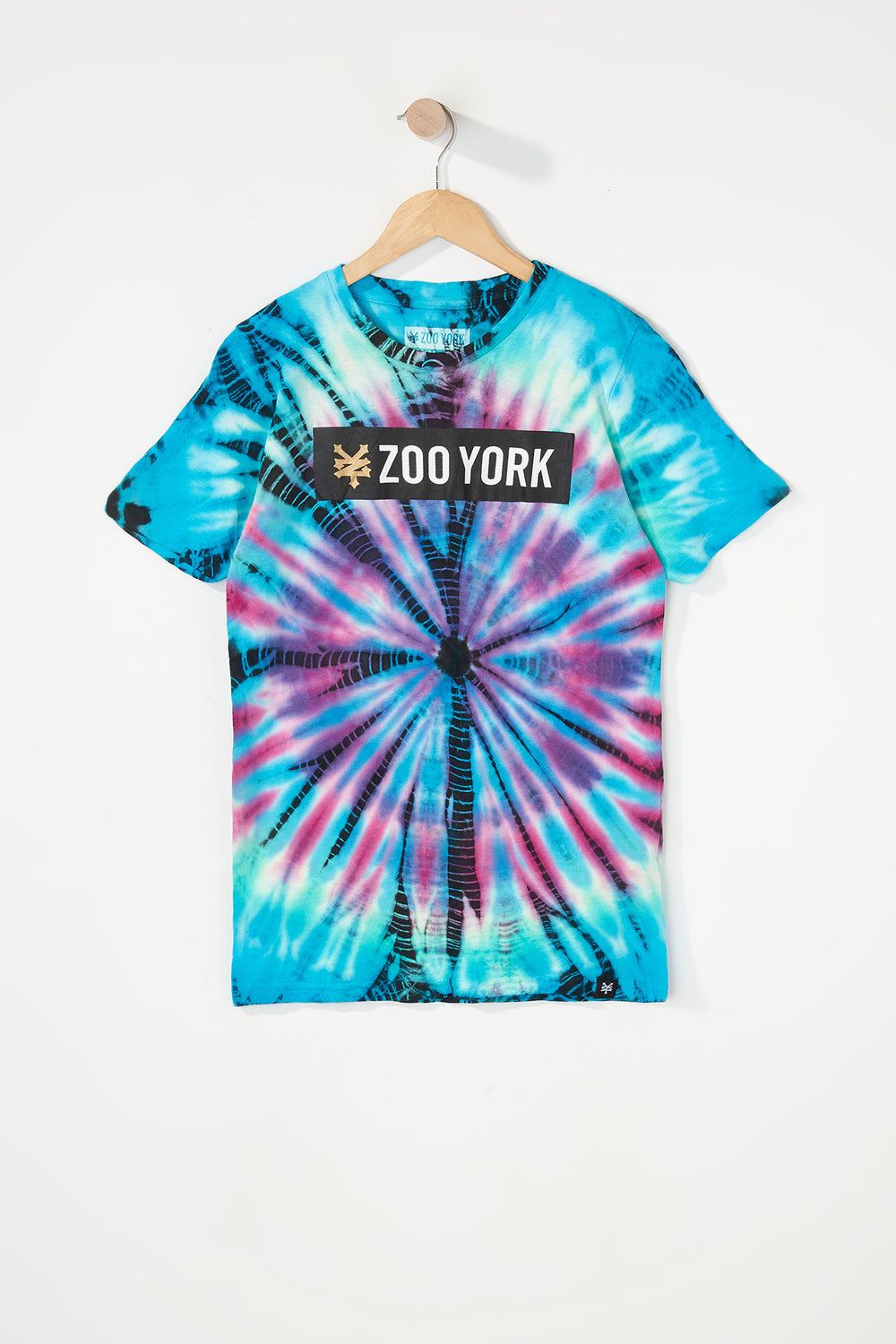 Zoo York Boys Tie-Dye T-Shirt Aqua