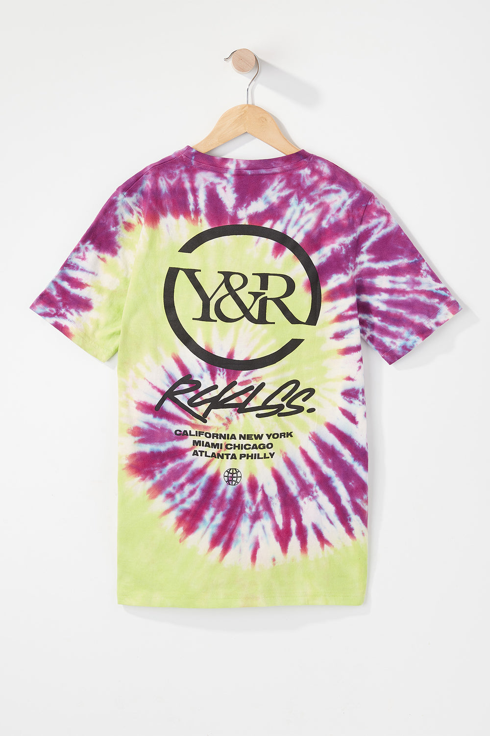 Young & Reckless Boys Multi-CityTie-Dye T-Shirt Green