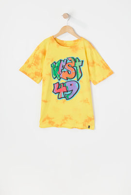 T-Shirt Tie-Dye Imprimé Logo Graffiti West49 Junior