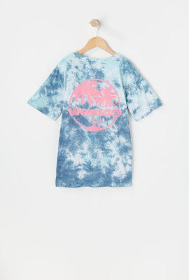 T-Shirt Tie-Dye Imprimé Palmier West49 Junior