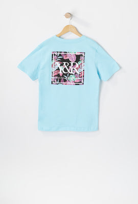 T-Shirt Floral Fluo Young & Reckless Junior