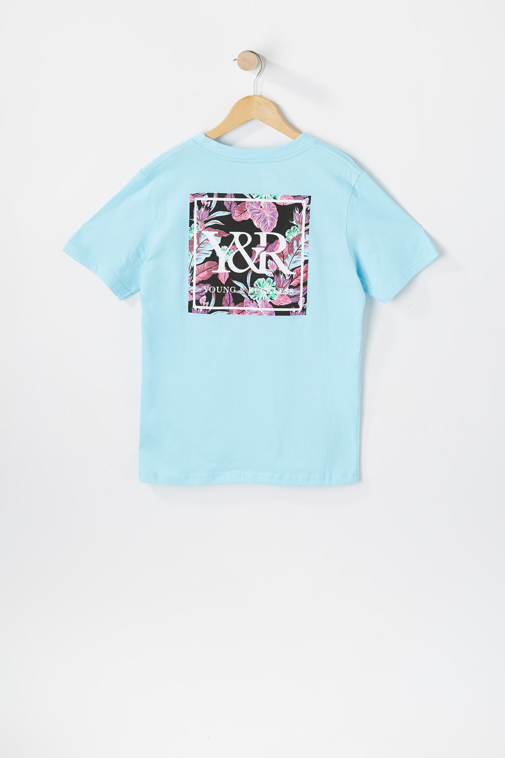 Young & Reckless Youth Neon Leaves T-Shirt Sage