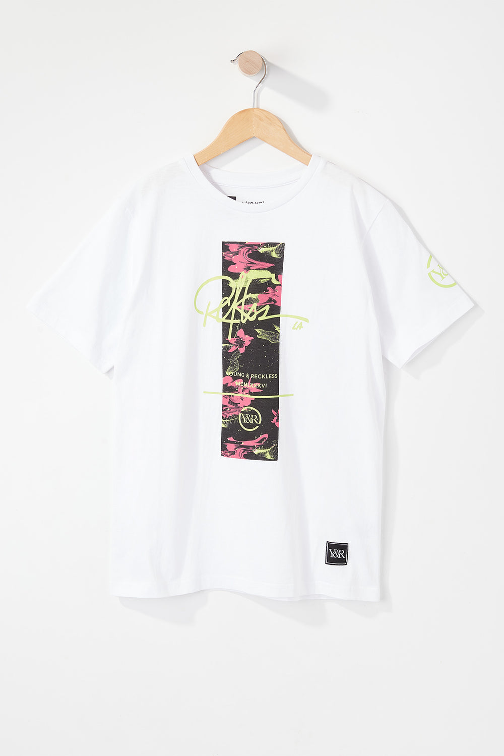Young & Reckless Boys Electric Floral T-Shirt White