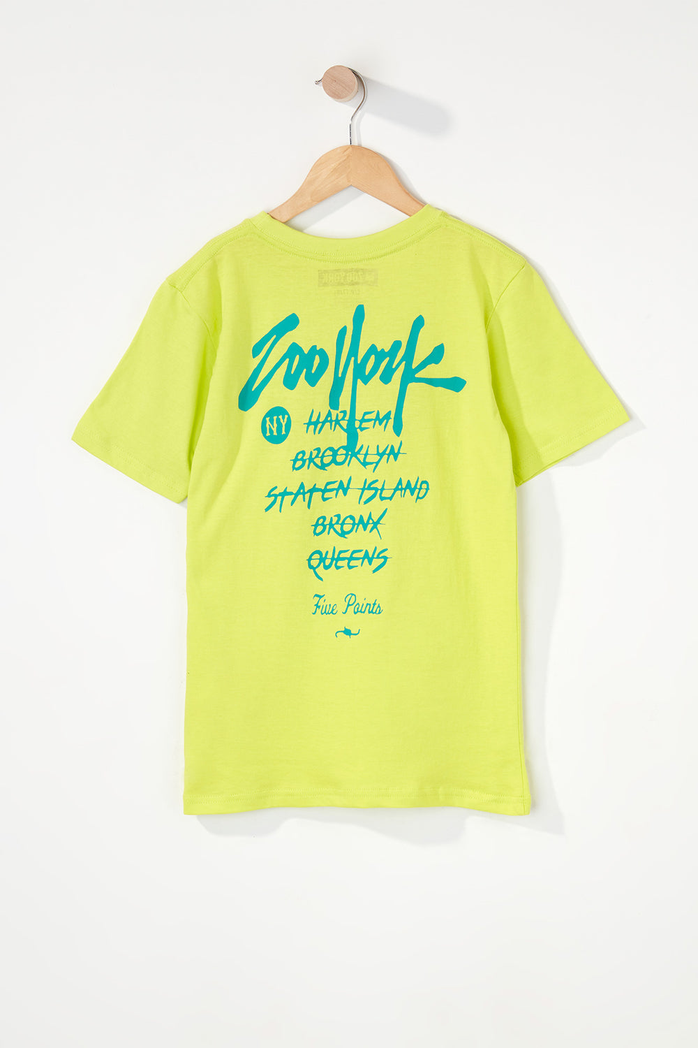 T-Shirt Quartiers NYC Zoo York Garçon Jaune
