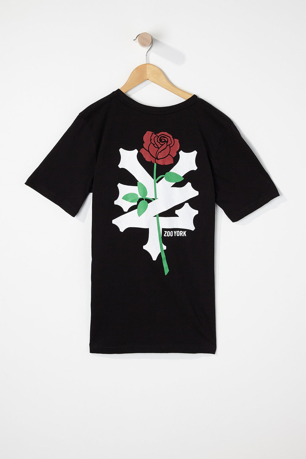 Zoo York Boys Rose Logo T-Shirt Black