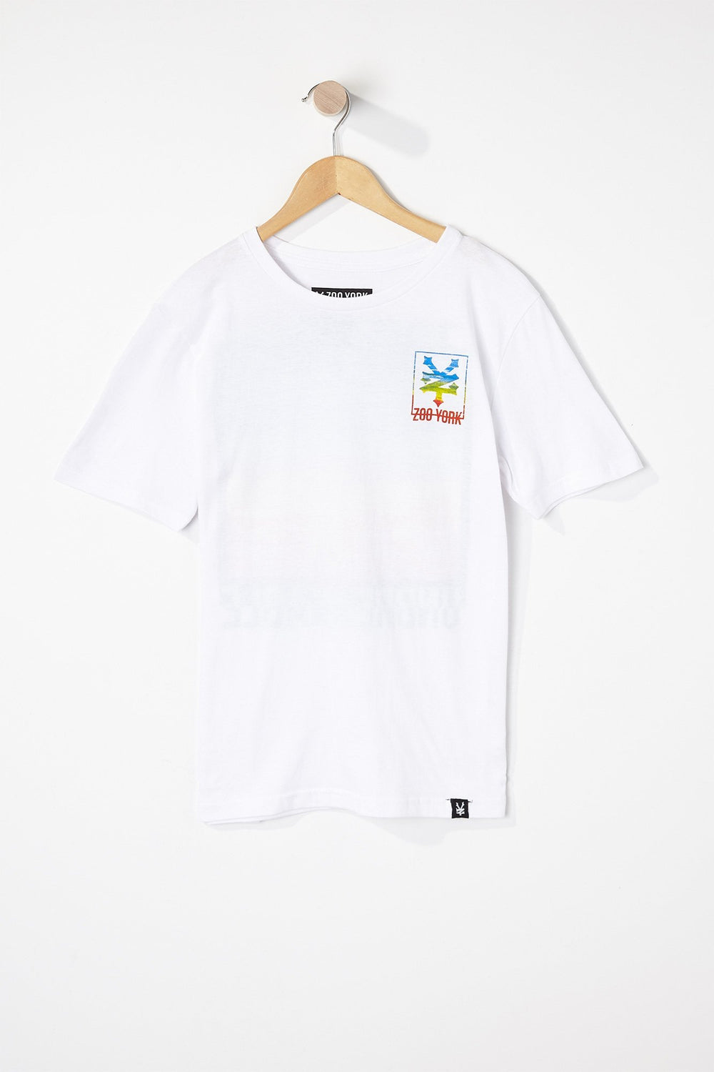 Zoo York Boys Tie Dye Square T-Shirt White