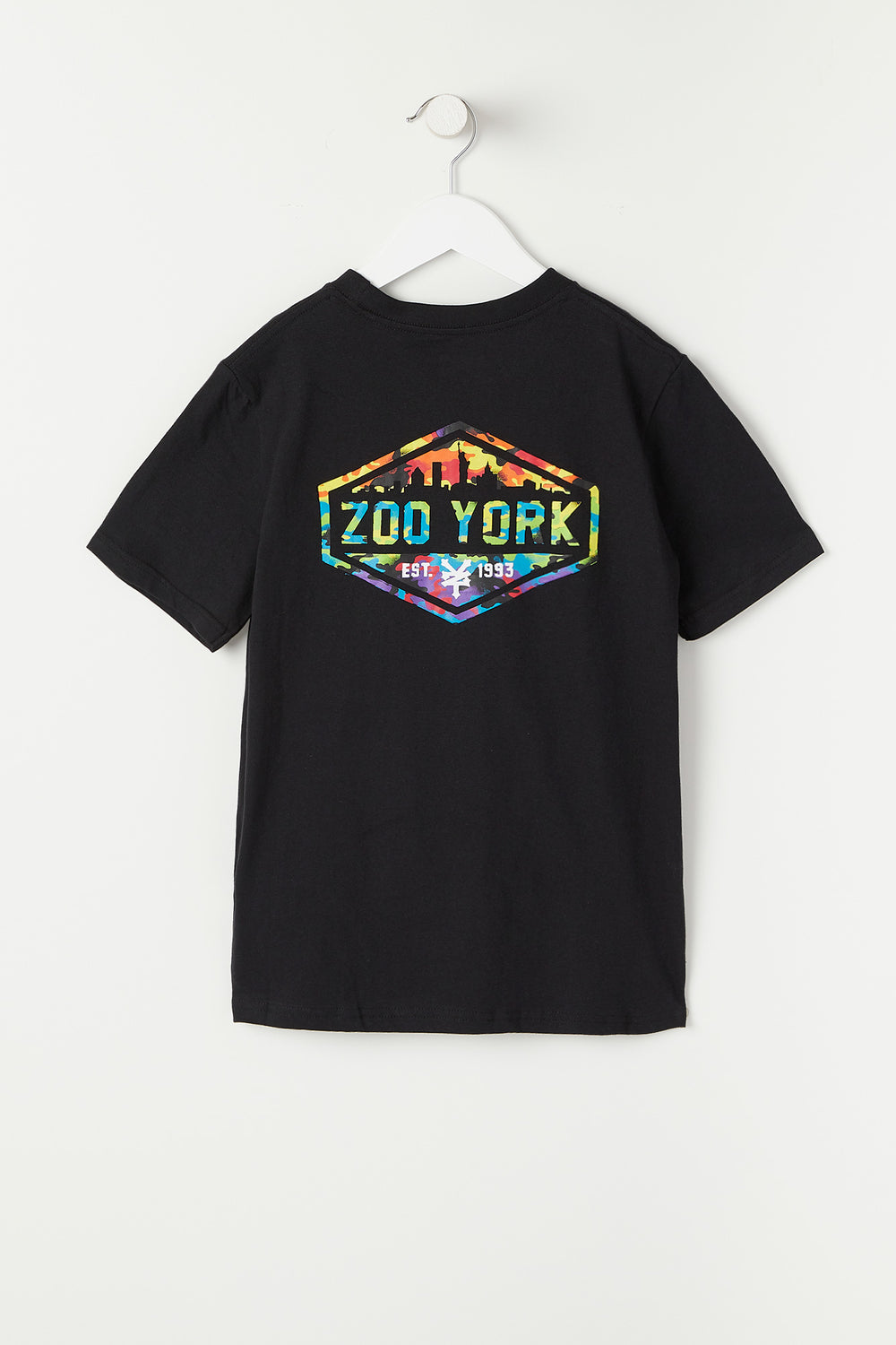 T-Shirt Logo Skyline Multicolore Zoo York Junior Noir