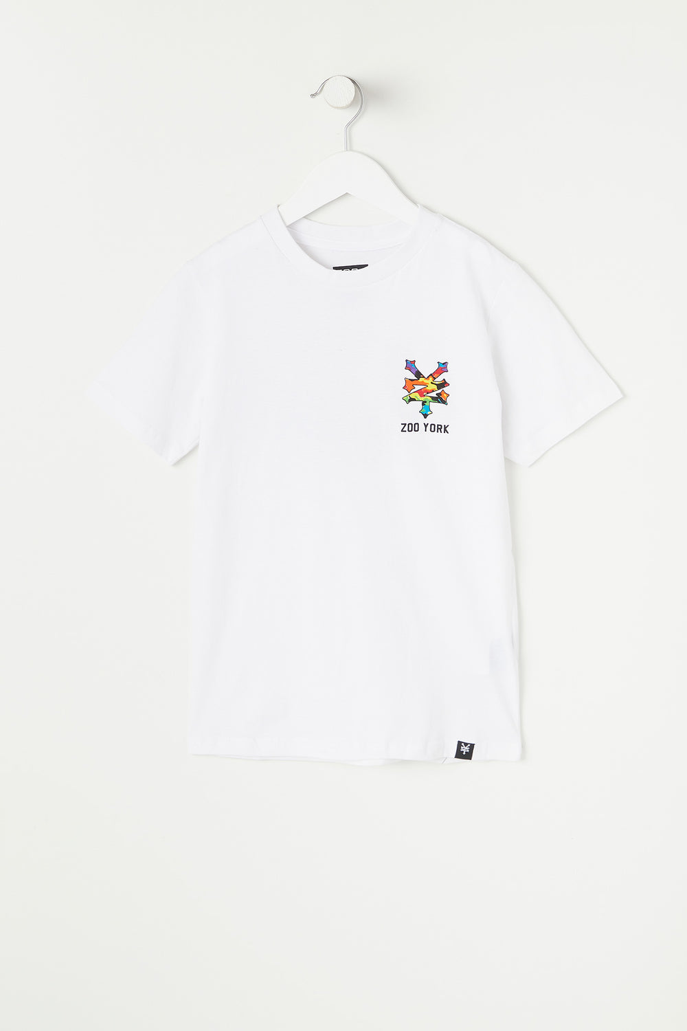 T-Shirt Logo Skyline Multicolore Zoo York Junior Blanc